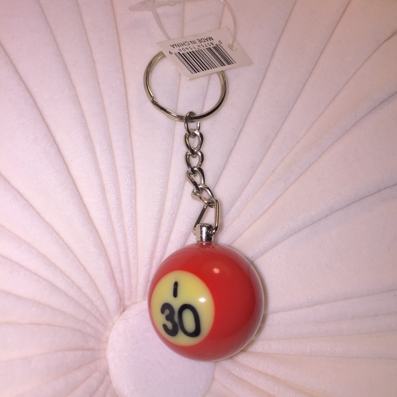 Red Pool Ball I30 Key Ring 4d3936afec61